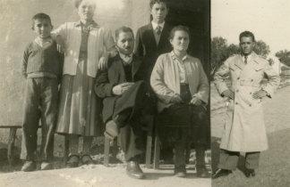 Retrato de família antes do embarque para o Ultramar