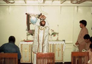 Celebração da Eucaristia na enfermaria