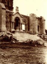 Pormenor da construção do templo de Santa Luzia
