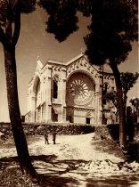 Rectaguarda do templo de Santa Luzia em construção