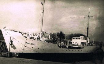 """Entrega do navio """"Sam Tiago"""""""