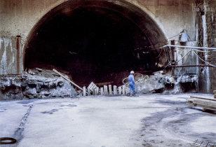 Construção de túnel em Hong Kong