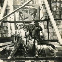 Trabalhadores na obra