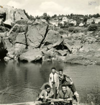 Amigos no rio Minho
